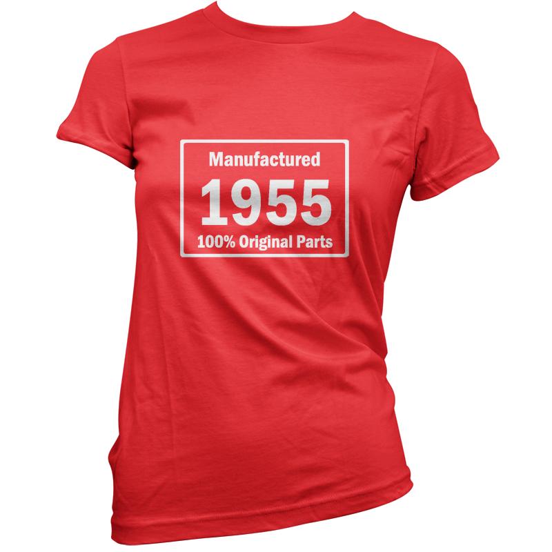 manufactured-1955-Original-Partes-Mujer-60-Regalo-De-Cumpleanos-Camiseta-11