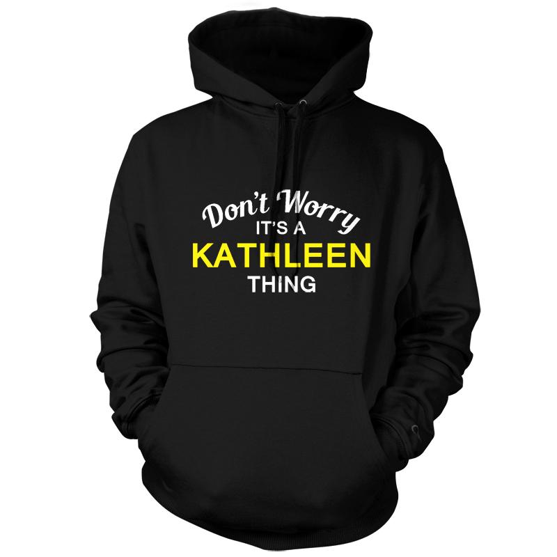 Non-ti-preoccupare-e-una-cosa-Kathleen-Unisex-Felpa-Con-Cappuccio-Felpa-Con-Cappuccio-S-XXL