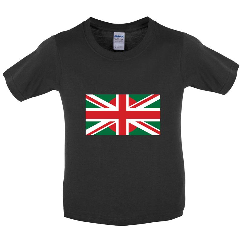 Il-Bangladesh-Bandiera-Union-Jack-Bambini-Bambini-T-Shirt-BANGLADESH-8-COLORI