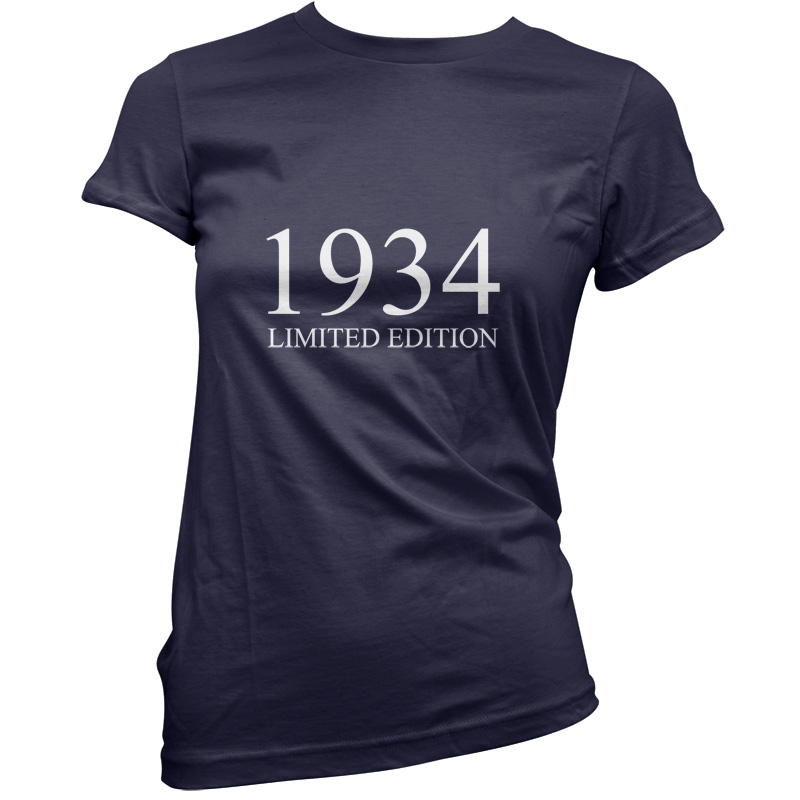 1934-Limited-Edition-Womens-80th-Birthday-Present-Gift-T-Shirt-11-Colours
