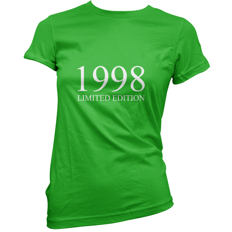 1998-Limited-Edition-Womens-18th-Birthday-Present-Gift-T-Shirt-11-Colours