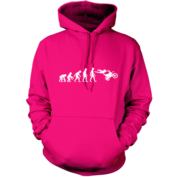 Evolution-of-Man-Moto-X-Unisex-Hoodie-Hooded-top-Gift-Motocross-S-XXL