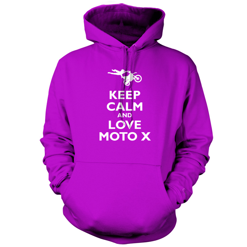 Keep-Calm-and-Love-Moto-X-Unisex-Hoodie-Hooded-Top-Motocross-9-Colours