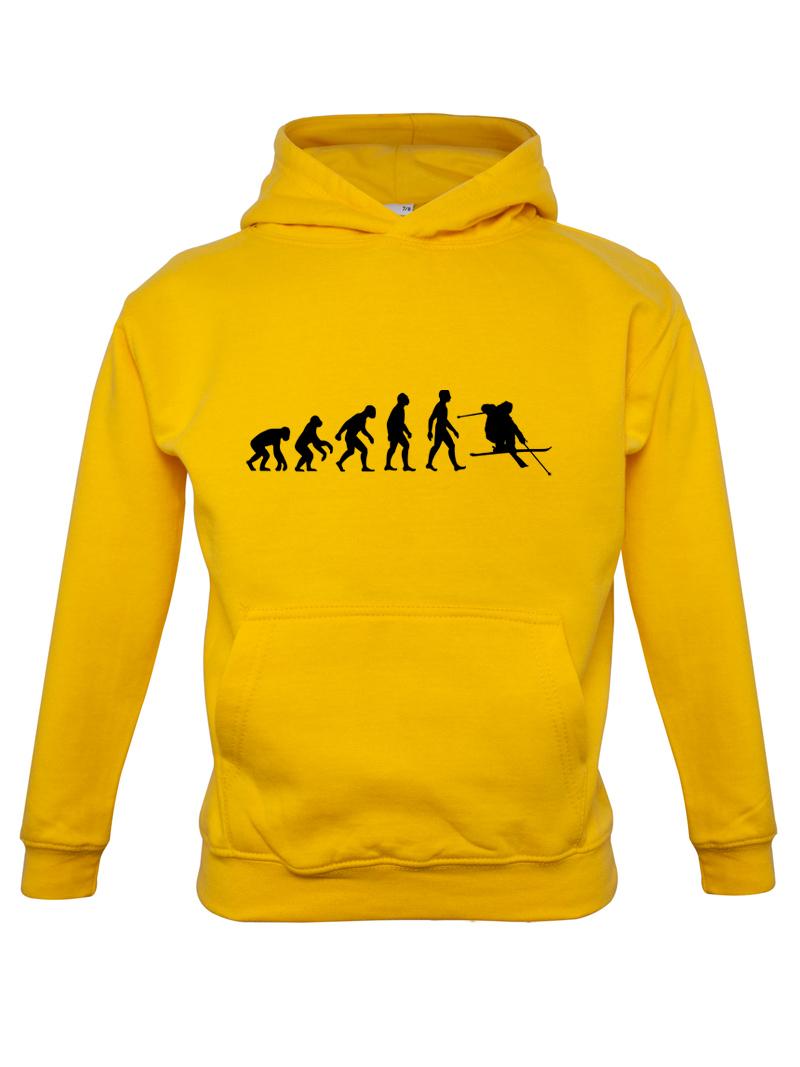 EVOLUZIONE-UMANA-sci-Bambini-Felpa-con-cappuccio-per-bambini-SCIATORE-7