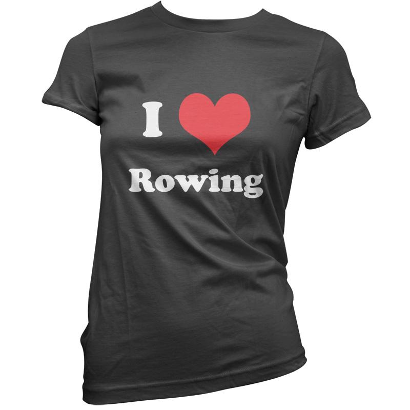 I-Love-Canottaggio-Donna-T-Shirt-da-11-Colori-Row-Rematore