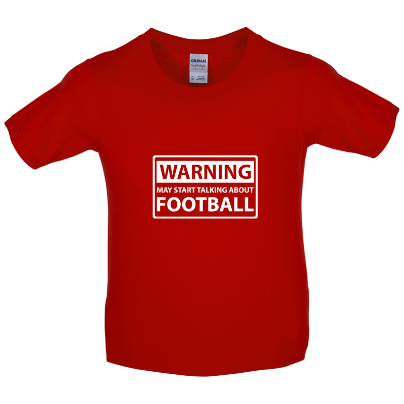 Waring May Start Talking About Football - Kids / Childrens T-Shirt - Soccer